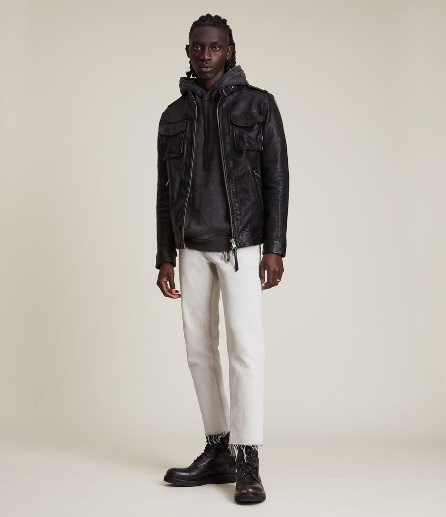 Men's Emmery Leather Jacket (jet_black) - Image 4