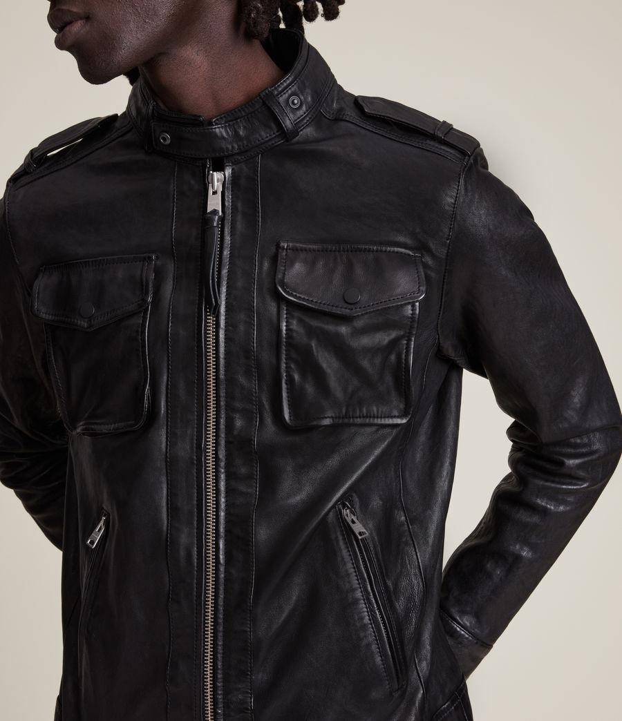Men's Emmery Leather Jacket (jet_black) - Image 5