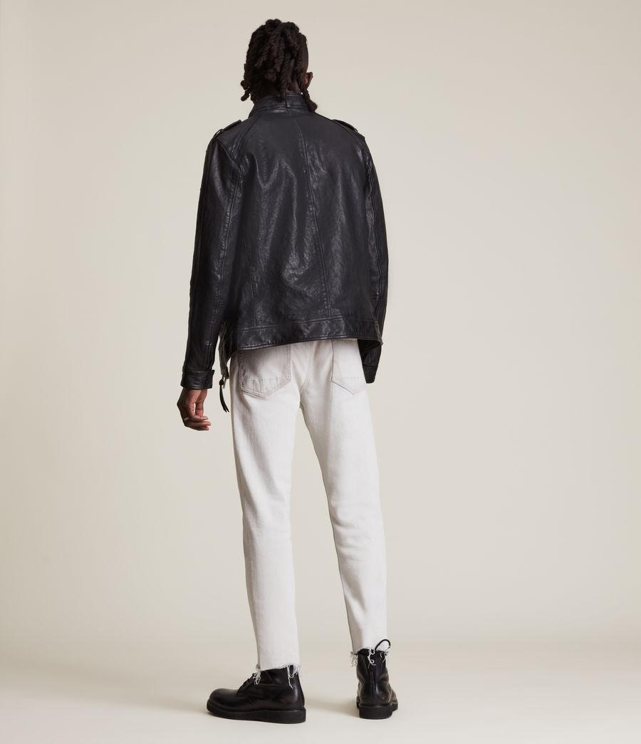 Men's Emmery Leather Jacket (jet_black) - Image 6