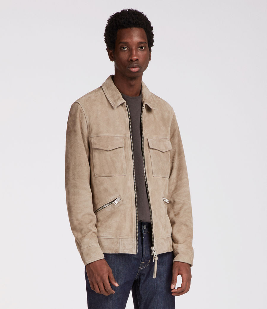 Men's Arrey Suede Jacket (shale_grey) - Image 1