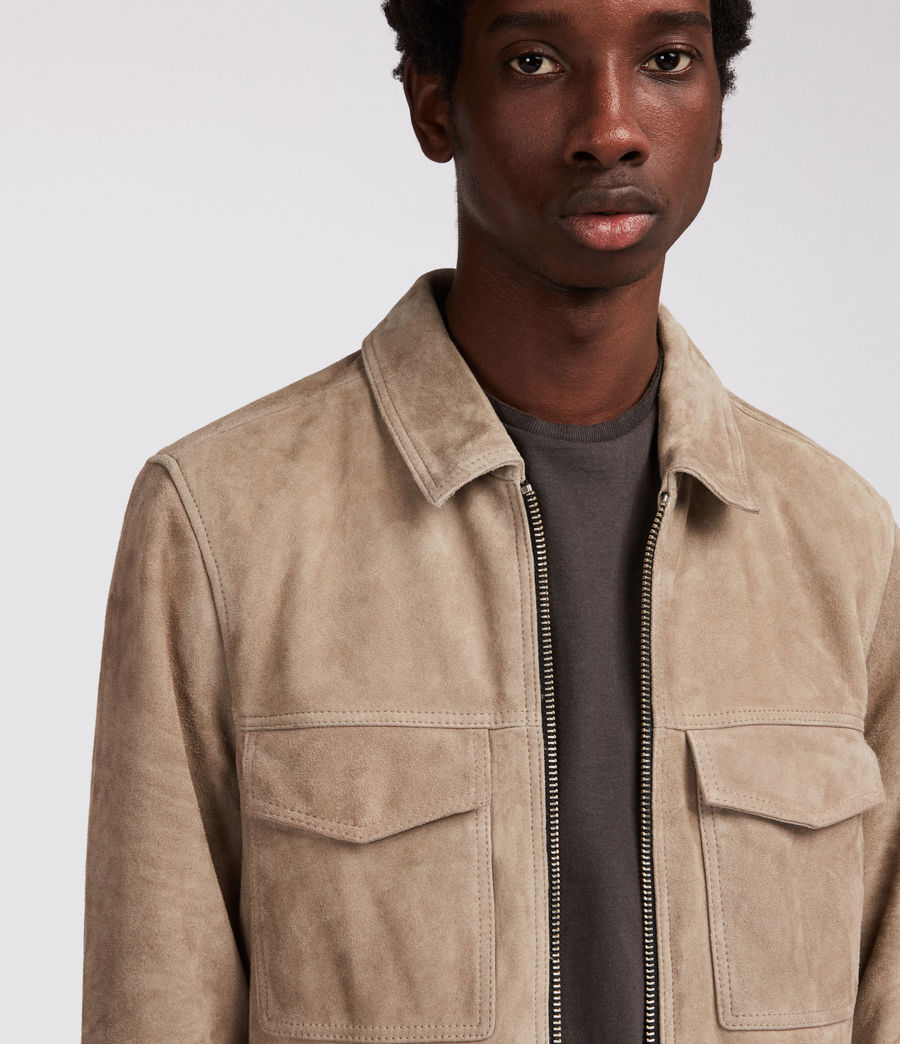 Men's Arrey Suede Jacket (shale_grey) - Image 2