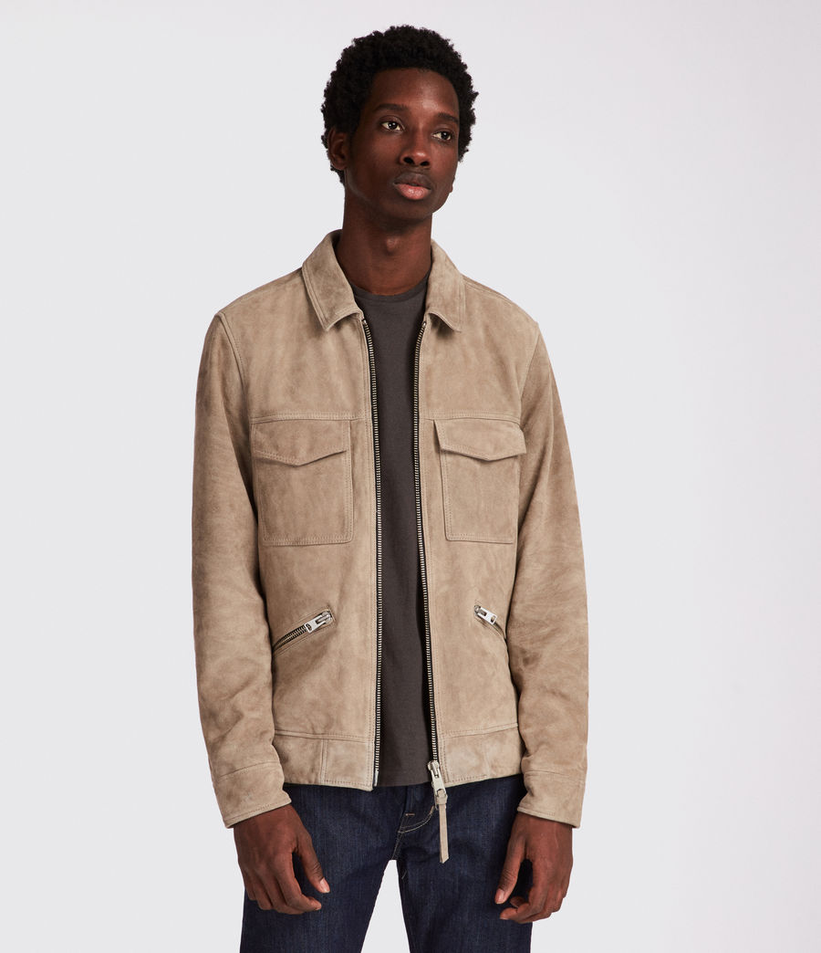 Men's Arrey Suede Jacket (shale_grey) - Image 3