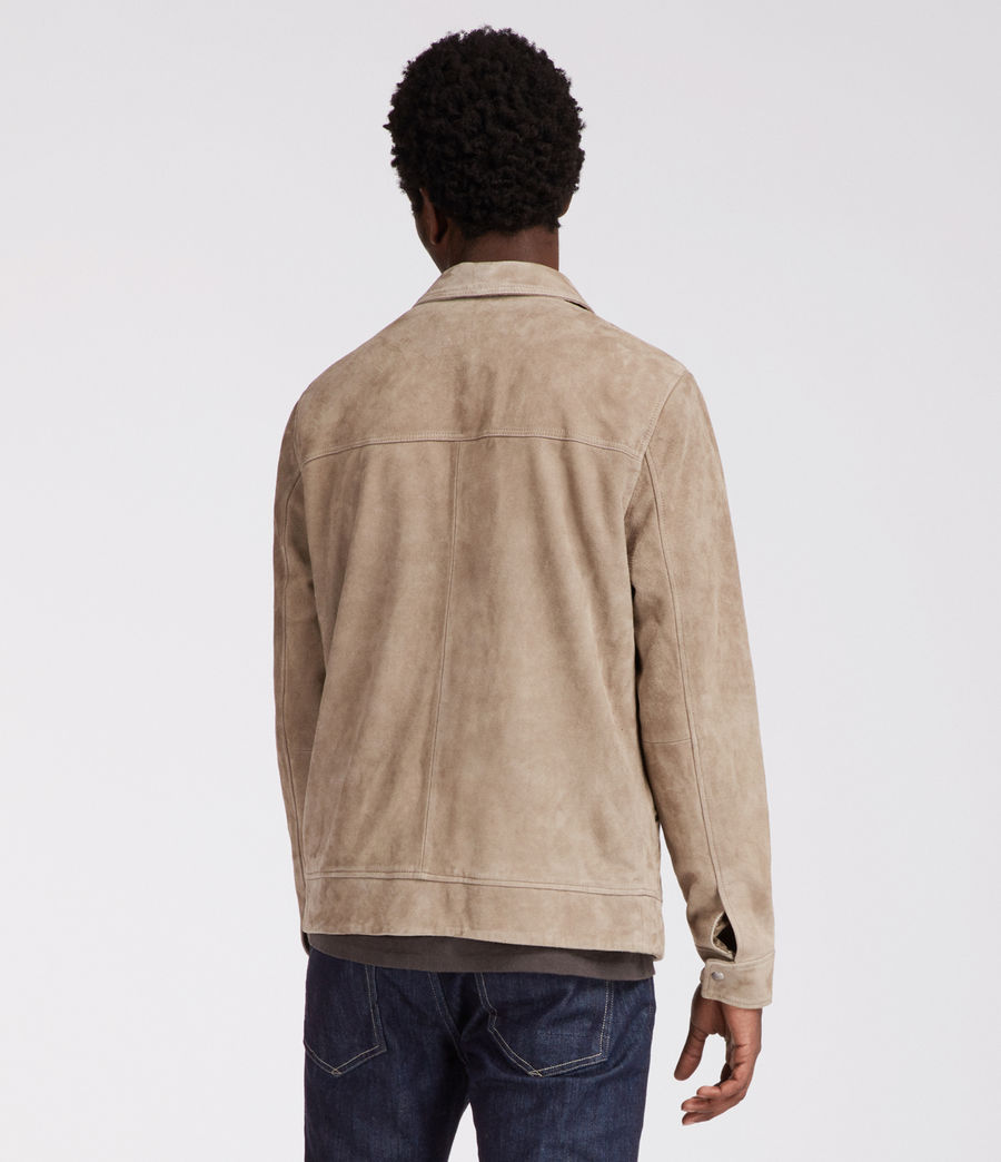 Men's Arrey Suede Jacket (shale_grey) - Image 4