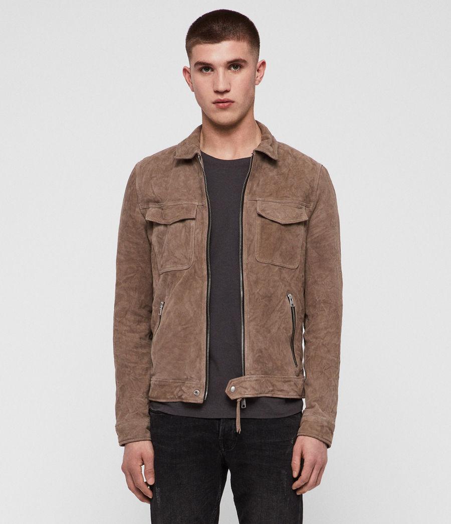 Men's Garter Suede Jacket (tan) - Image 1