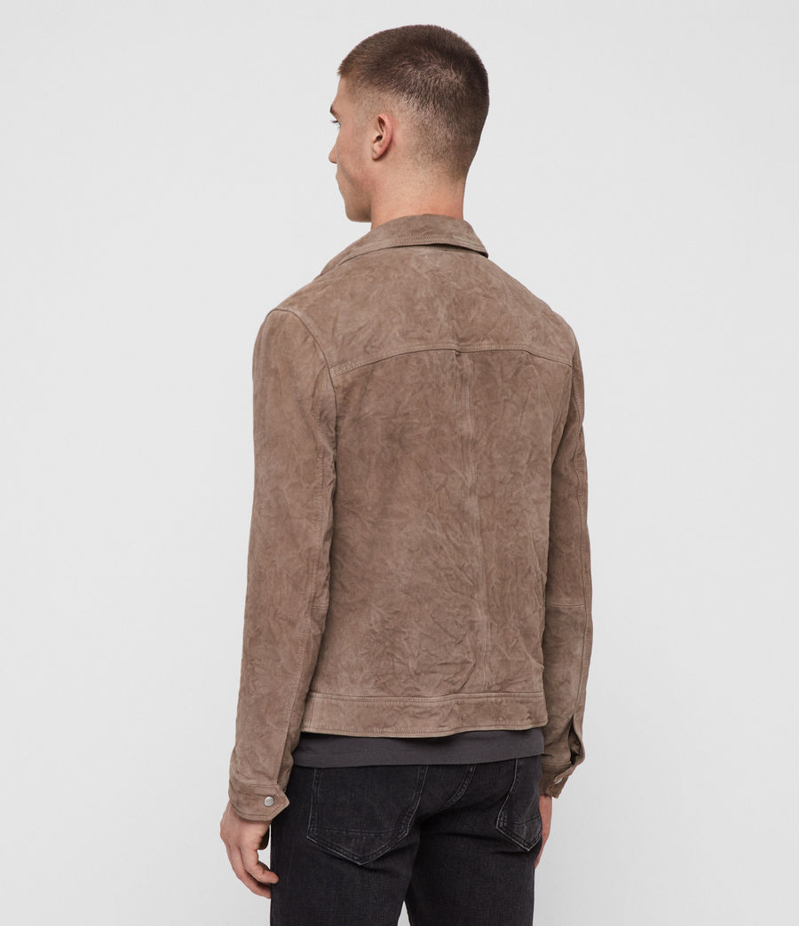 Men's Garter Suede Jacket (tan) - Image 4