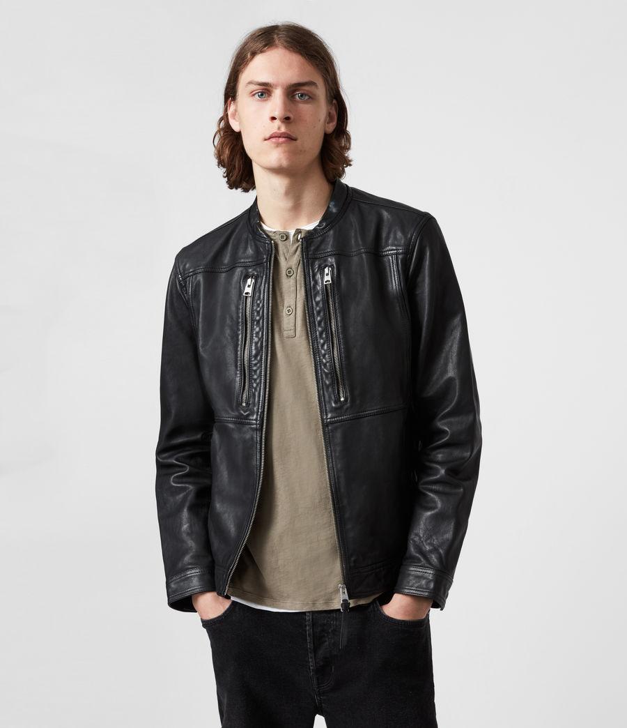 Hommes Monix Leather Jacket (black) - Image 1