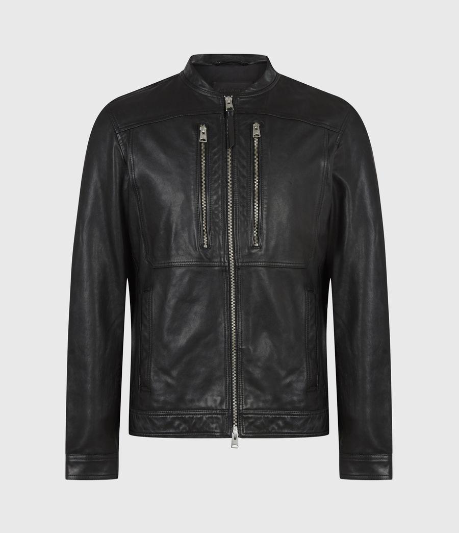 Hommes Monix Leather Jacket (black) - Image 2