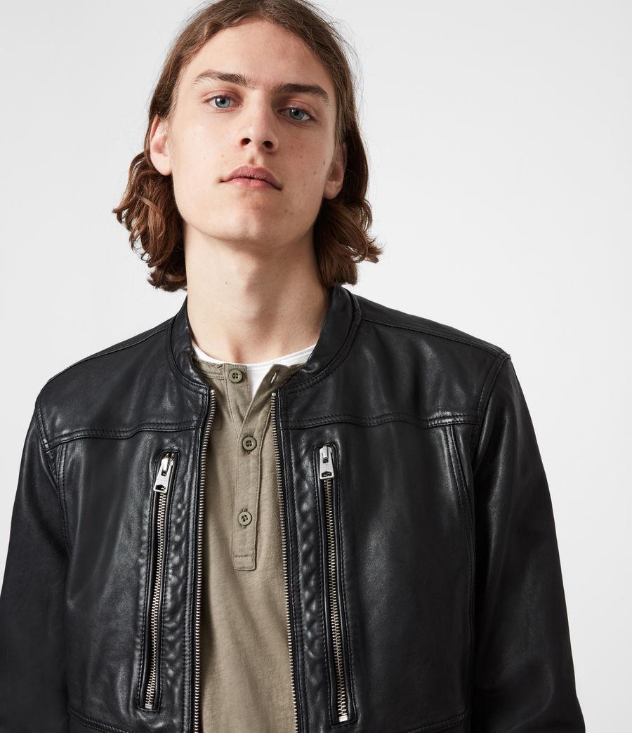 Hommes Monix Leather Jacket (black) - Image 4