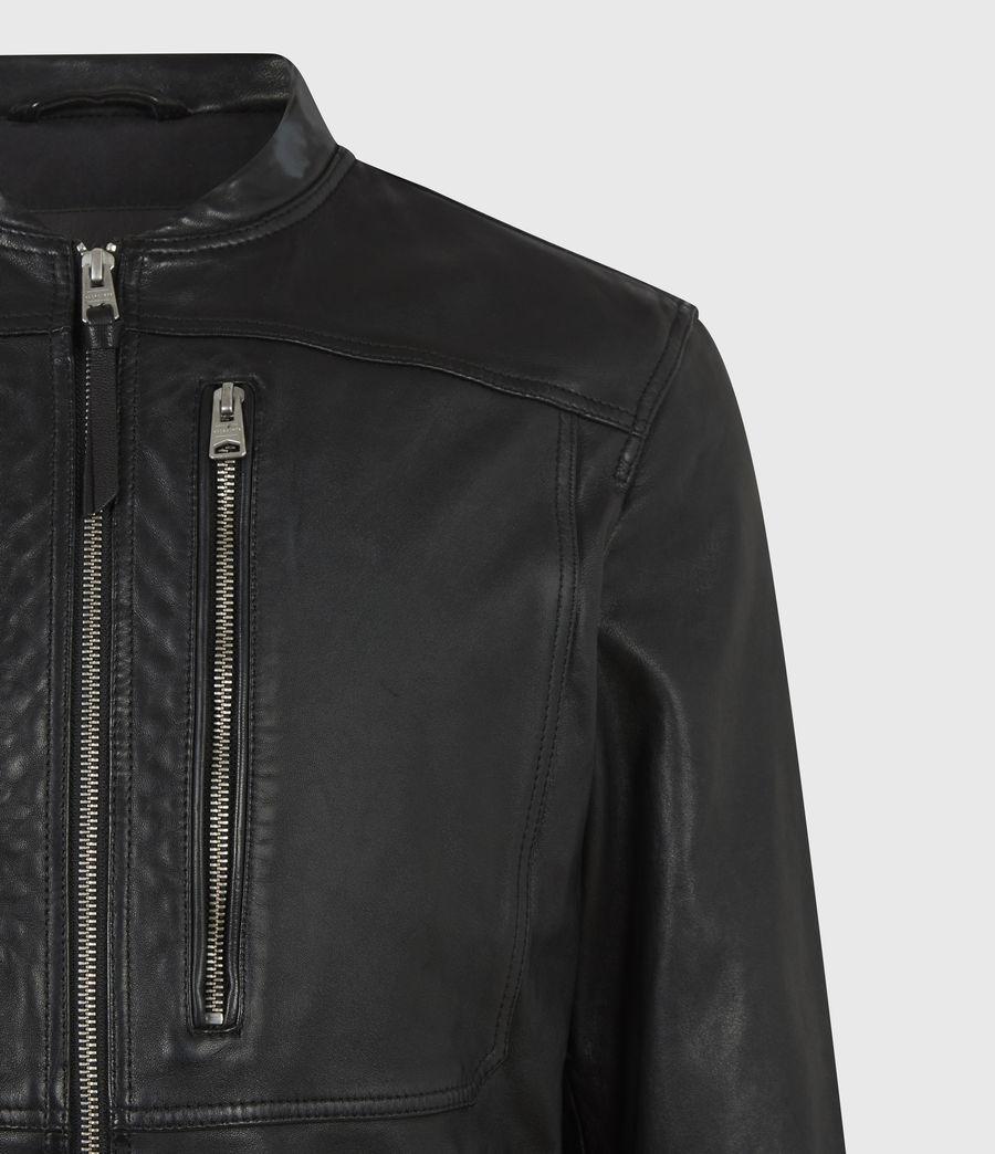 Hommes Monix Leather Jacket (black) - Image 5