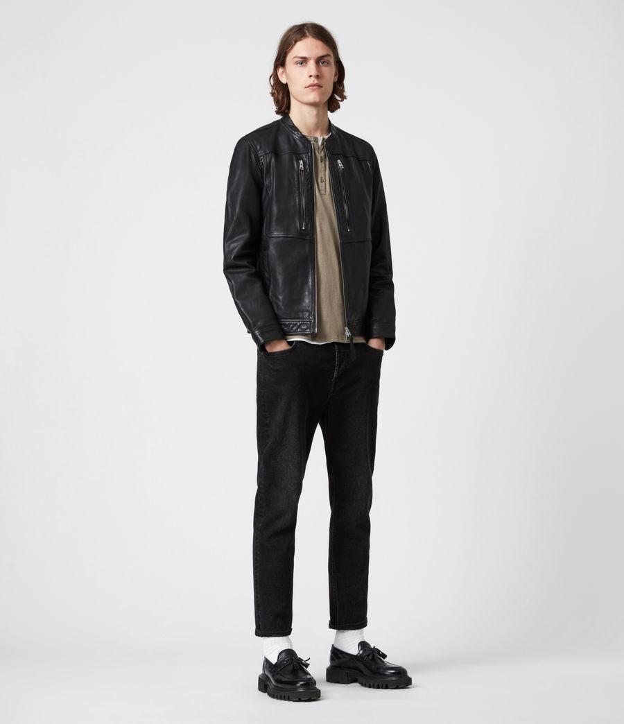 Hommes Monix Leather Jacket (black) - Image 6