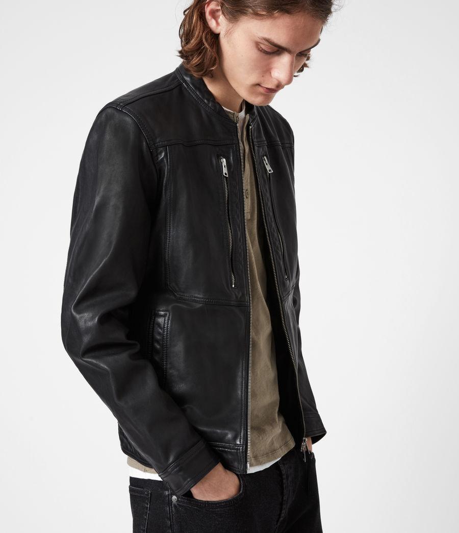 Hommes Monix Leather Jacket (black) - Image 7