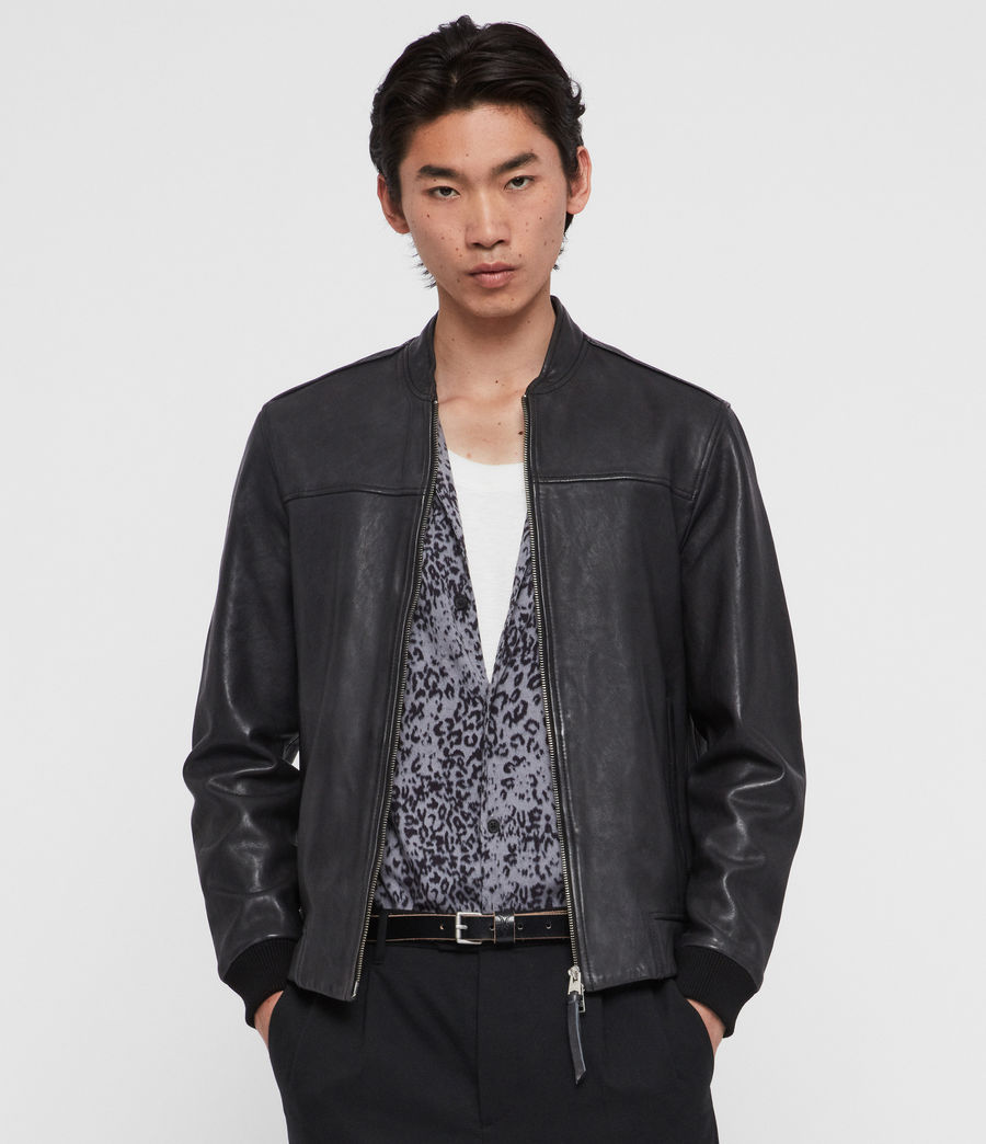 Mens Marsh Leather Jacket (black) - Image 1