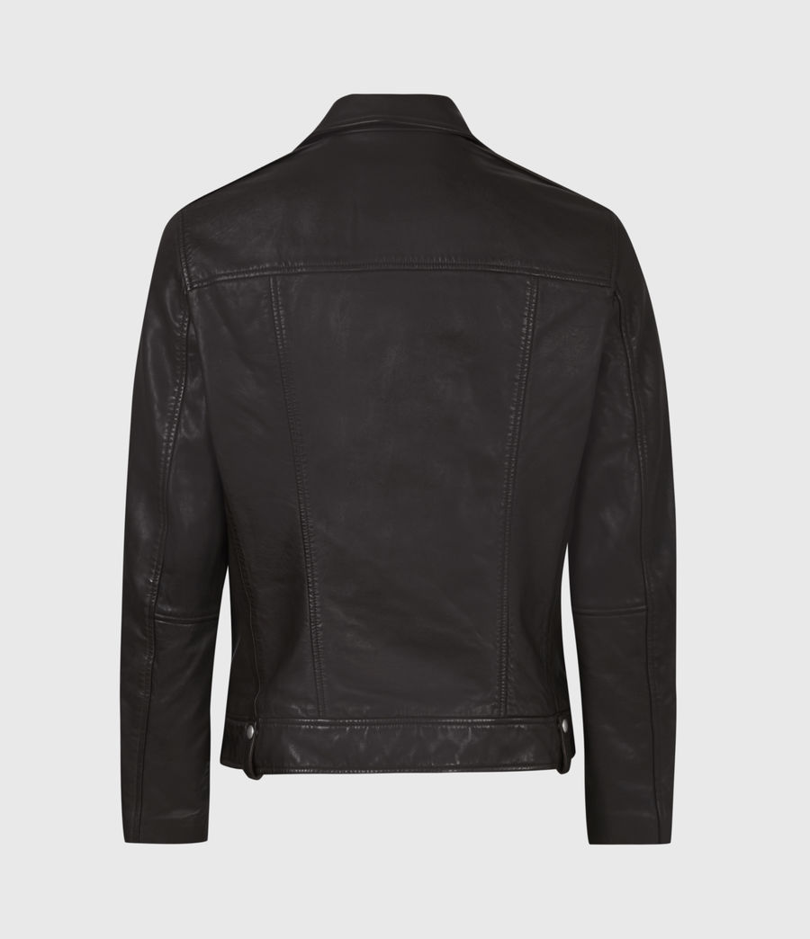 Men's Milo Leather Biker Jacket (oxblood_red) - Image 3