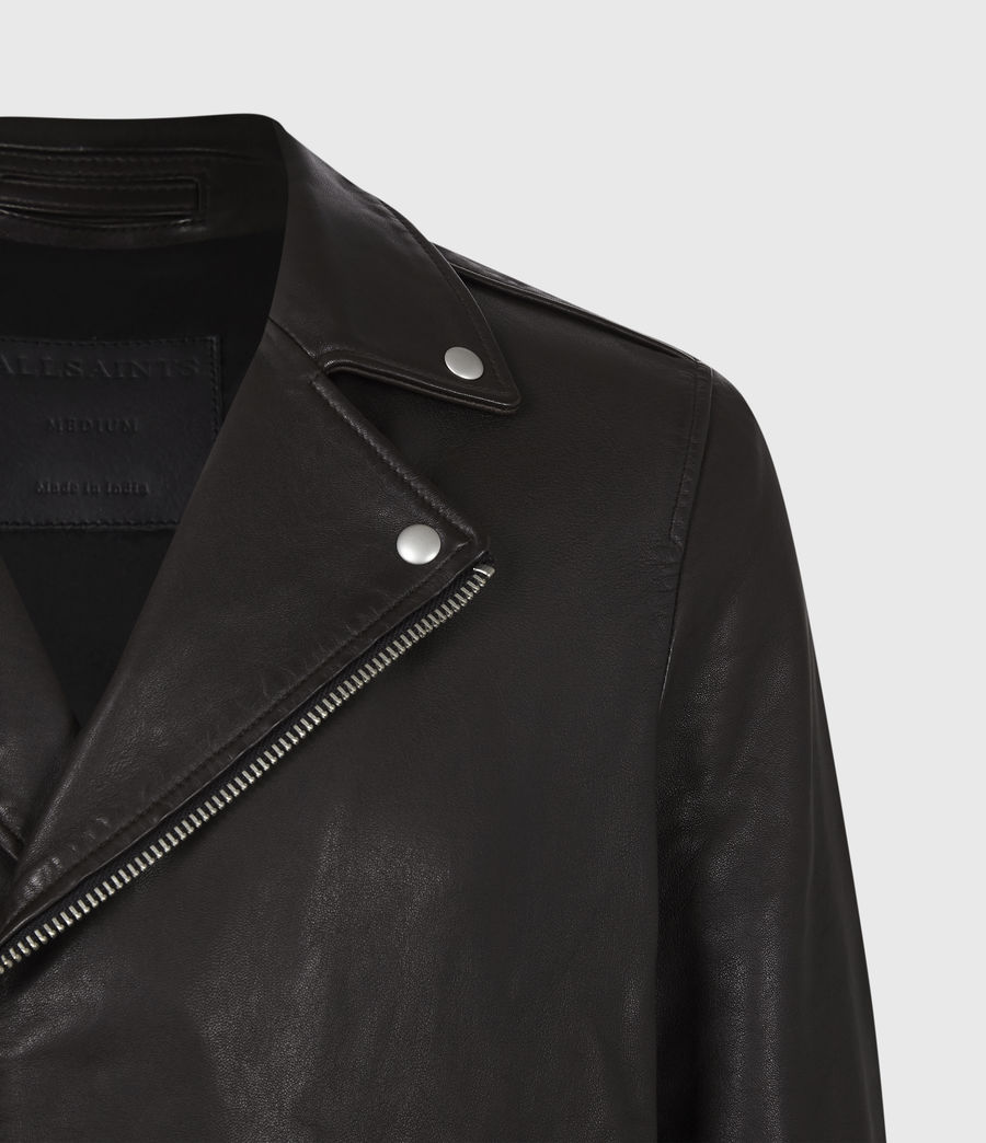 Men's Milo Leather Biker Jacket (oxblood_red) - Image 5