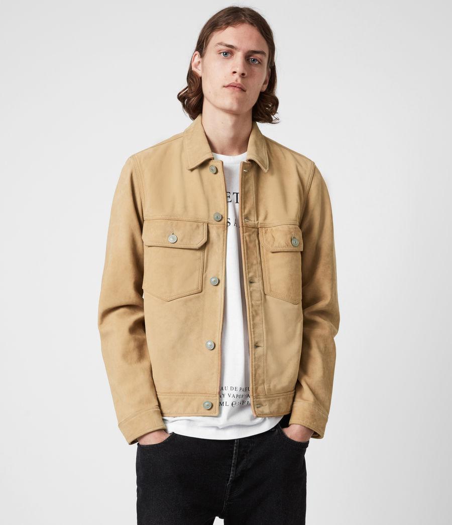 Herren Santi Leather Jacket (desert_brown) - Image 1