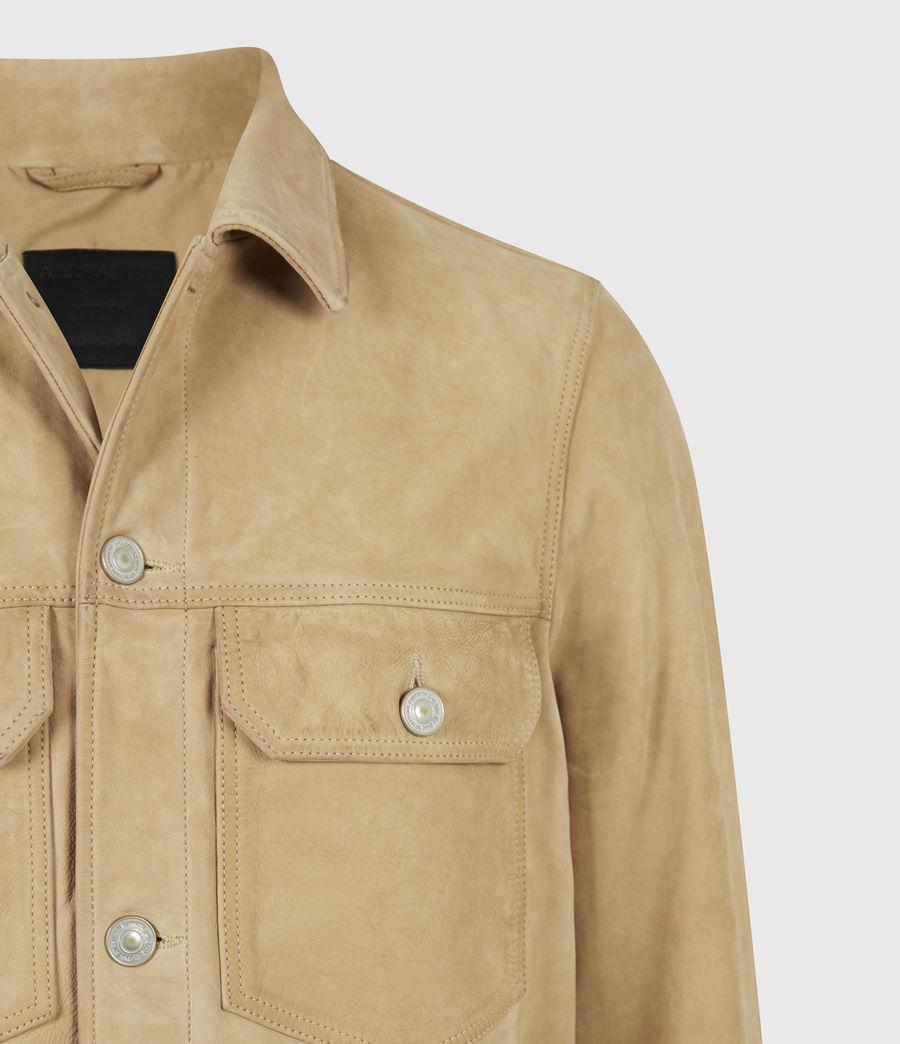 Herren Santi Leather Jacket (desert_brown) - Image 5