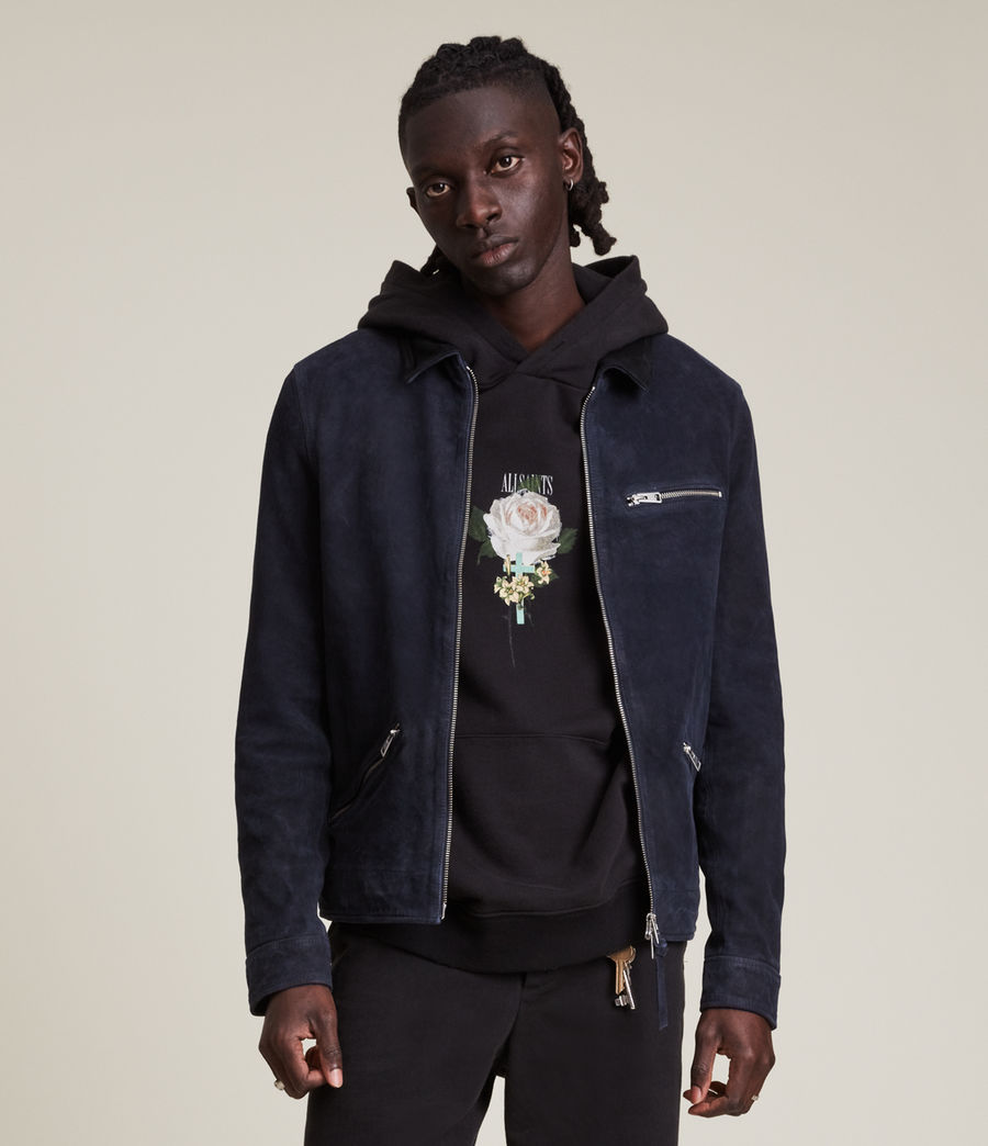 Men's Terence Suede Jacket (midnight_blue) - Image 2