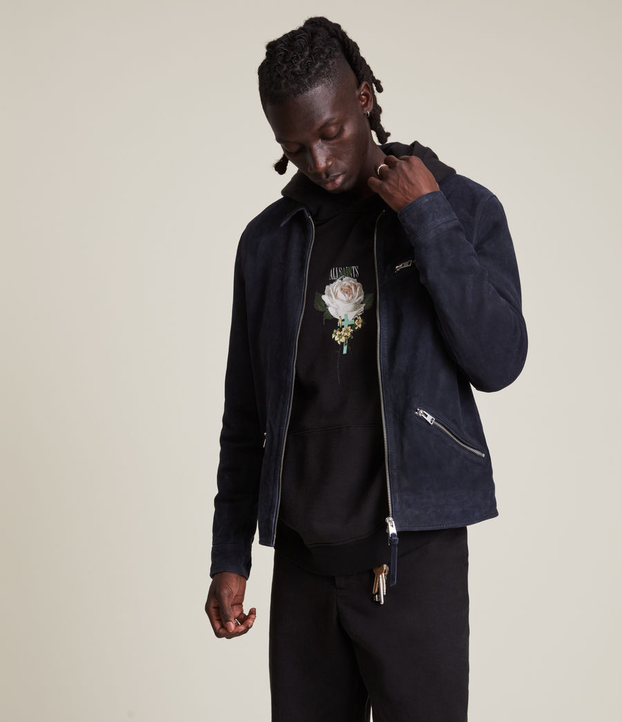 Men's Terence Suede Jacket (midnight_blue) - Image 4