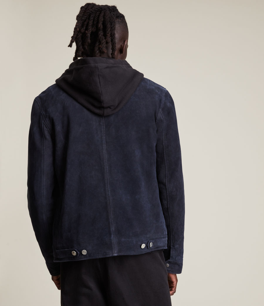 Men's Terence Suede Jacket (midnight_blue) - Image 6