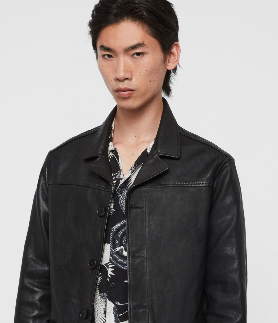 Men's Lyme Leather Jacket (black) - Image 2