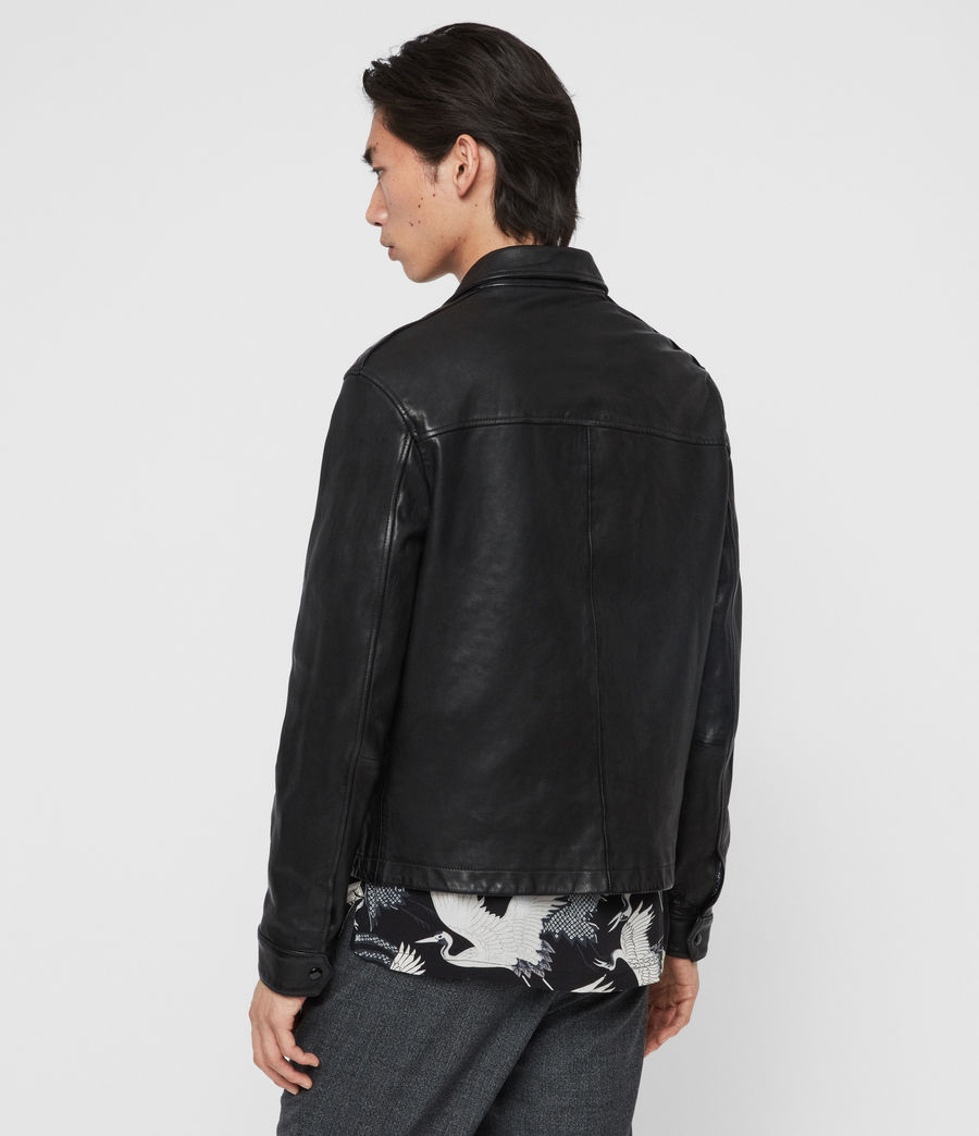 Men's Lyme Leather Jacket (black) - Image 5