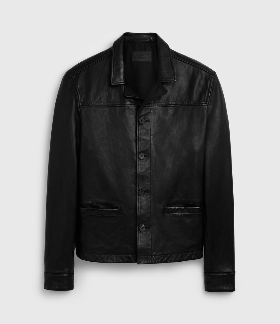 Men's Lyme Leather Jacket (black) - Image 6
