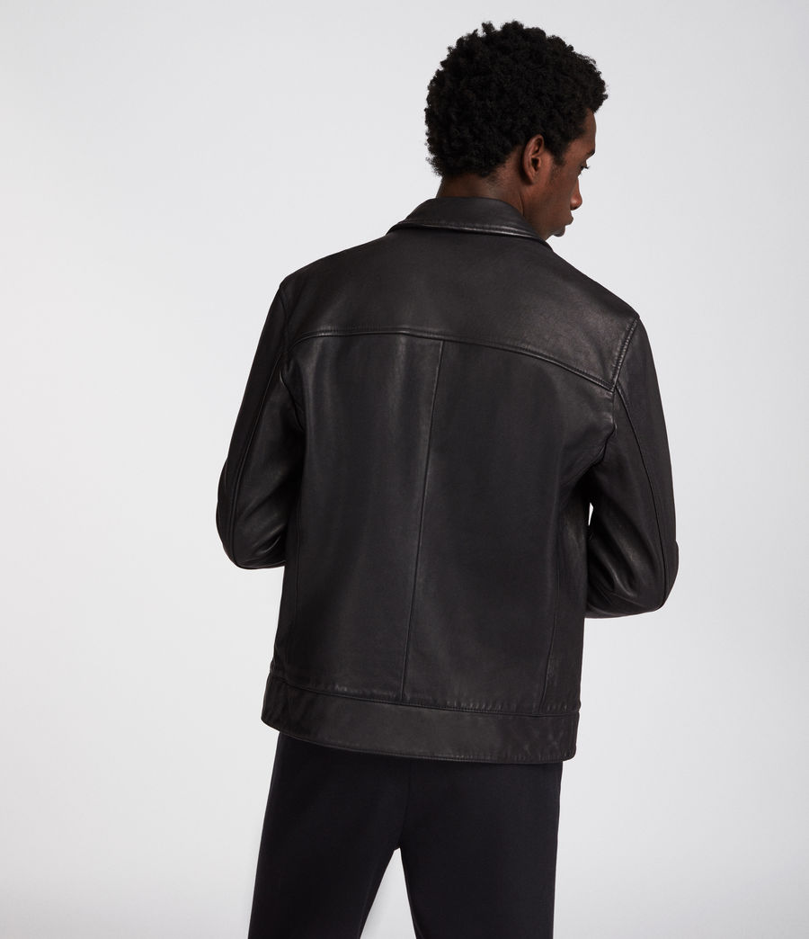 Men's Hayne Leather Jacket (black) - Image 5