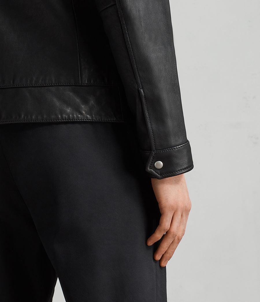 Men's Hayne Leather Jacket (black) - Image 6