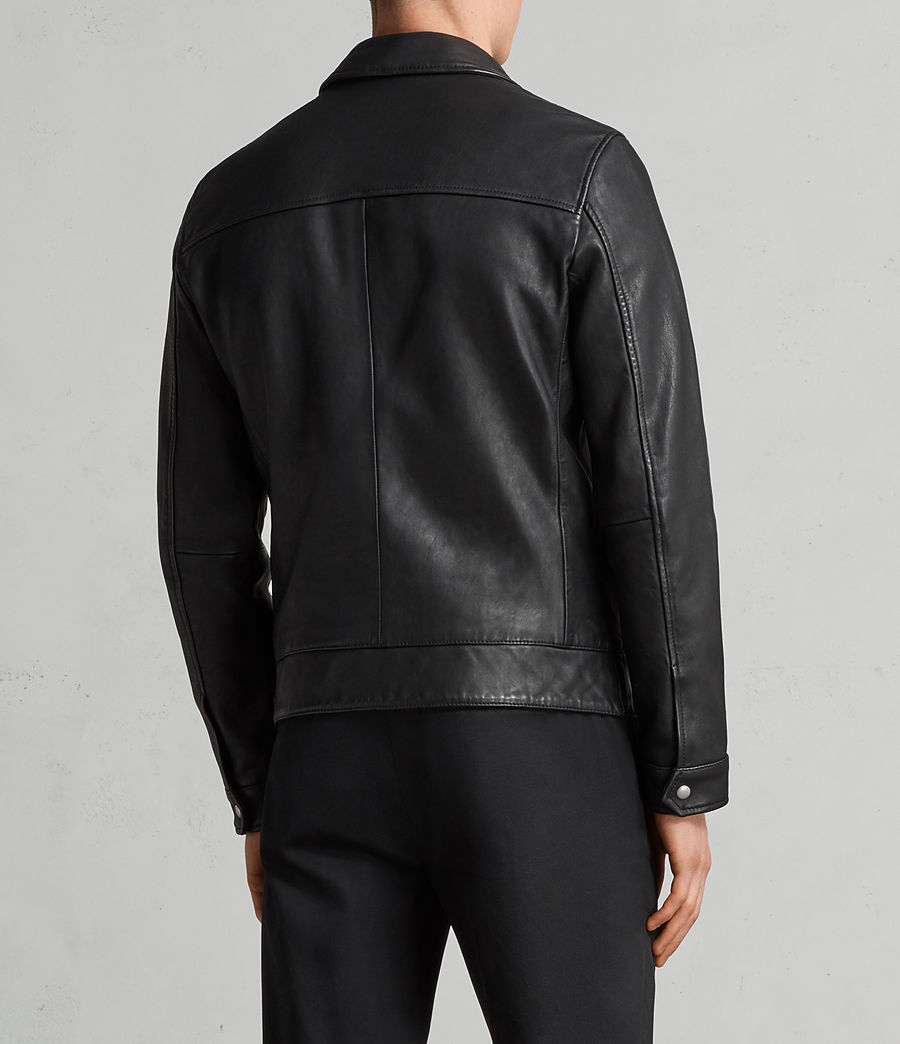 Men's Hayne Leather Jacket (black) - Image 7