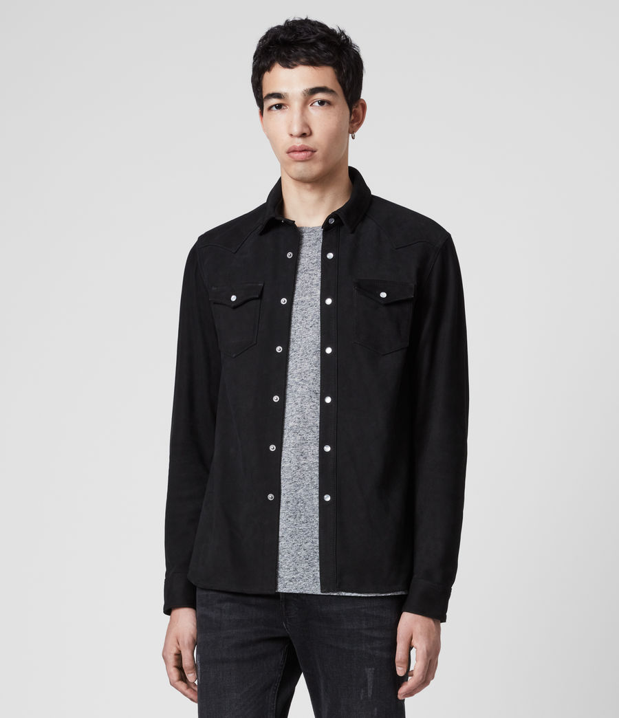 Men's Stanway Nubuck Shirt (jet_black) - Image 1