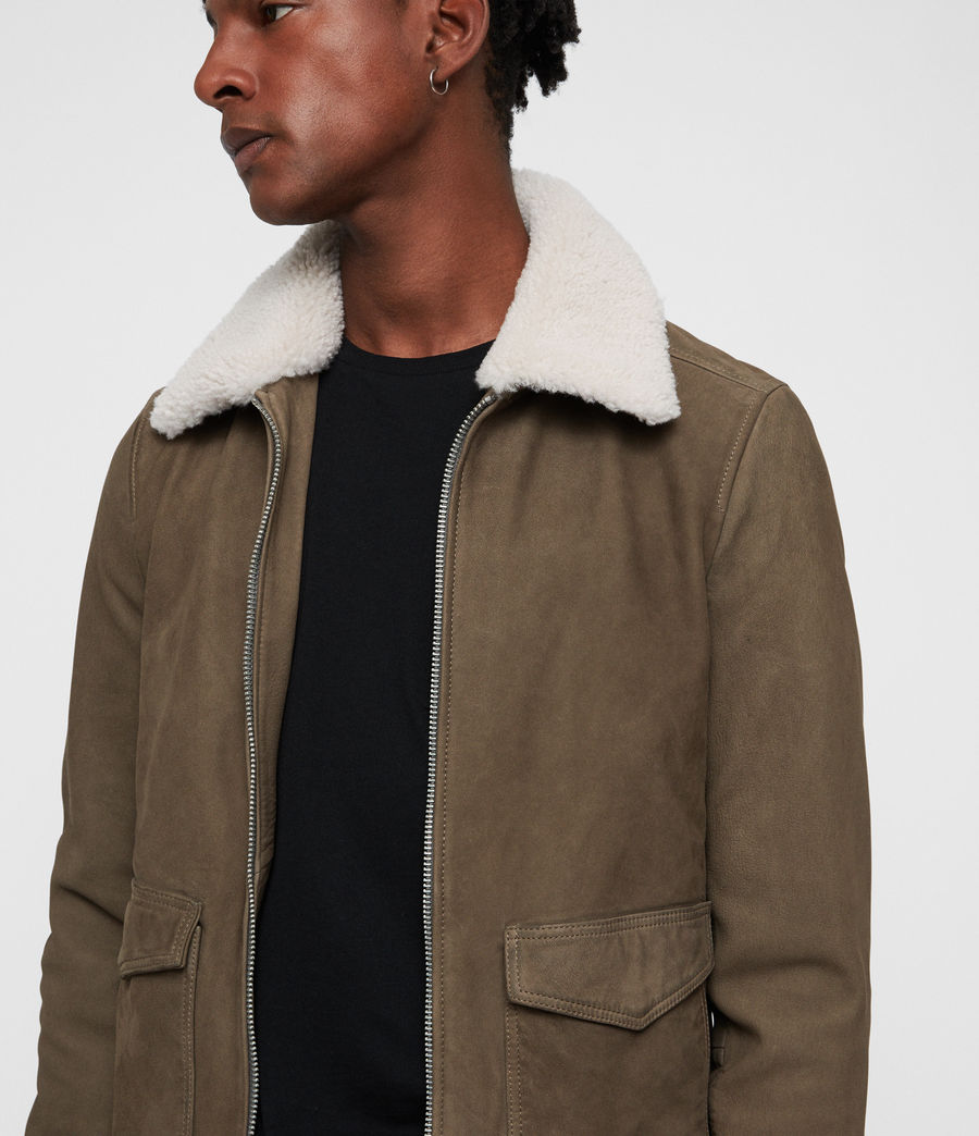 Men's Reed Nubuck Aviator Coat (mink_grey) - Image 2
