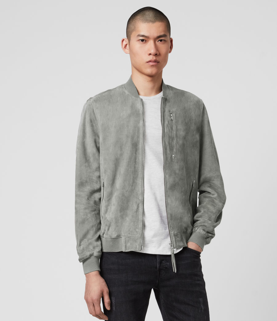 Men's Kemble Suede Bomber Jacket (sky_blue) - Image 1