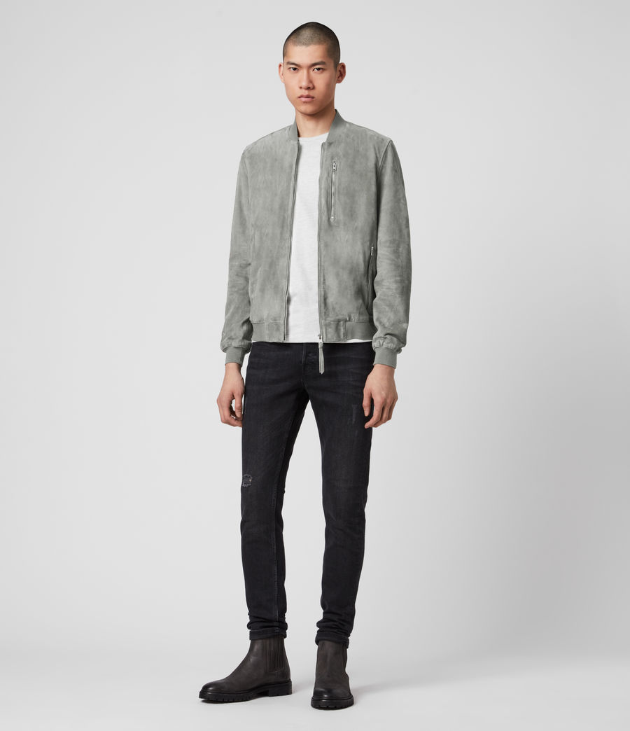 Men's Kemble Suede Bomber Jacket (sky_blue) - Image 3