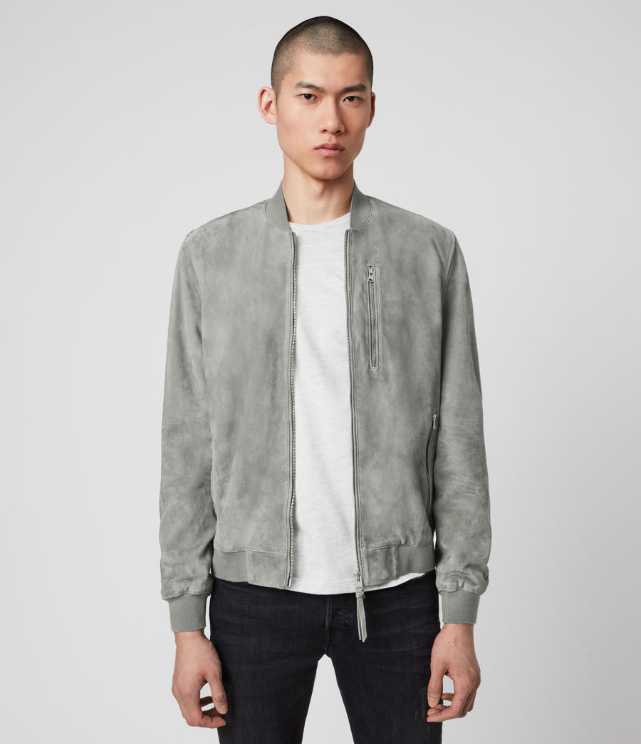 Men's Kemble Suede Bomber Jacket (sky_blue) - Image 4