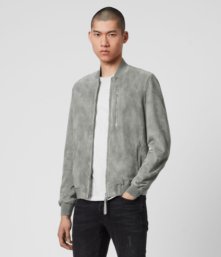 Men's Kemble Suede Bomber Jacket (sky_blue) - Image 5