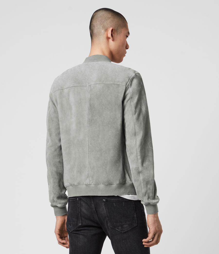 Men's Kemble Suede Bomber Jacket (sky_blue) - Image 6