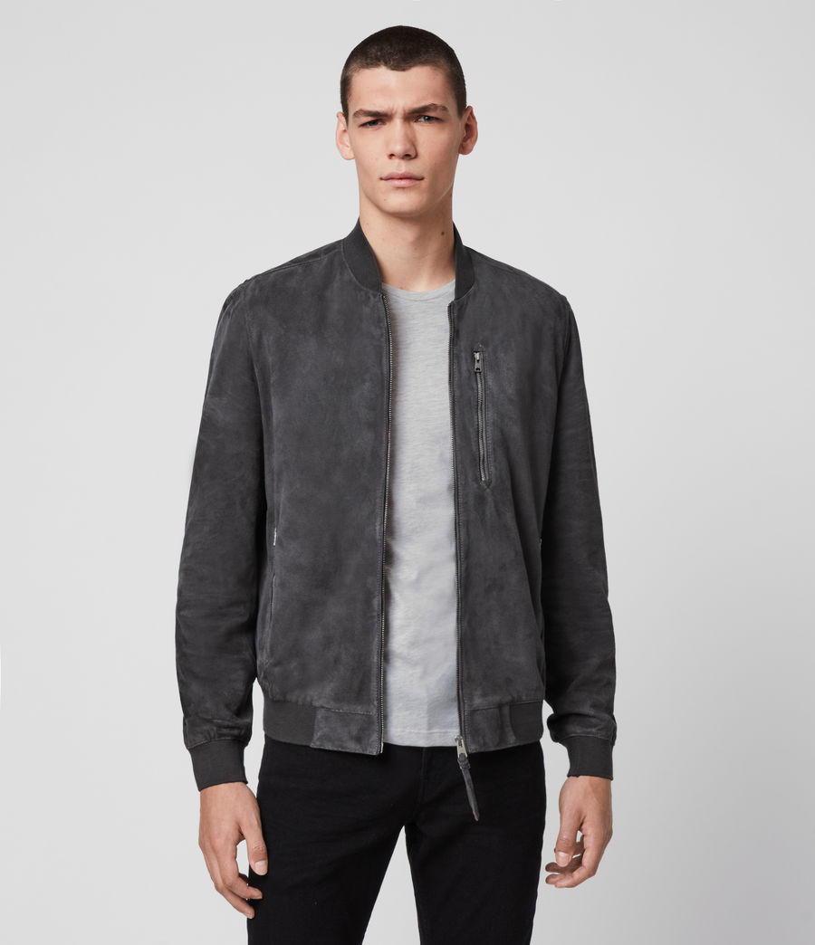 Men's Kemble Suede Bomber Jacket (slate_grey) - Image 1