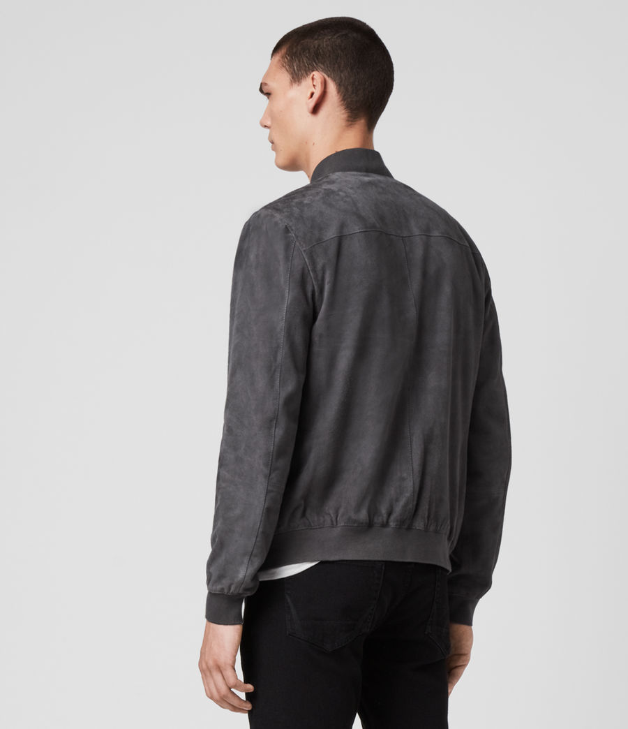 Men's Kemble Suede Bomber Jacket (slate_grey) - Image 5