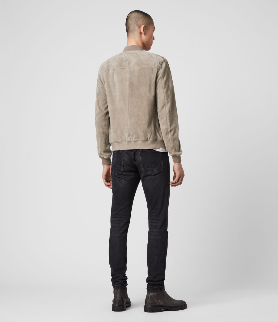Mens Kemble Suede Bomber Jacket (light_taupe) - Image 3