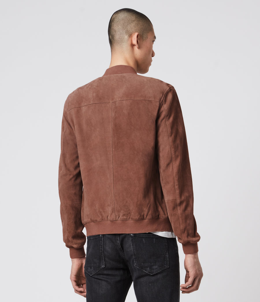 Mens Kemble Suede Bomber Jacket (oxblood) - Image 10