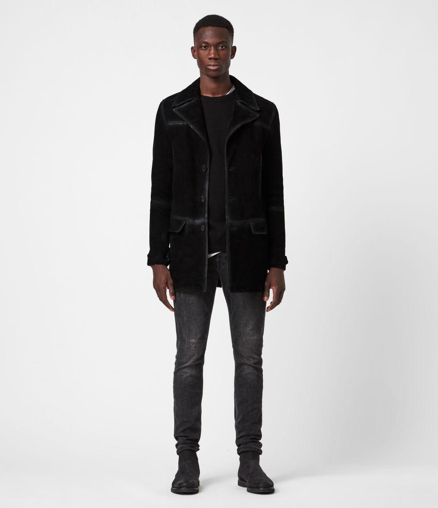 Men's Trebeck Suede Coat (black) - Image 1
