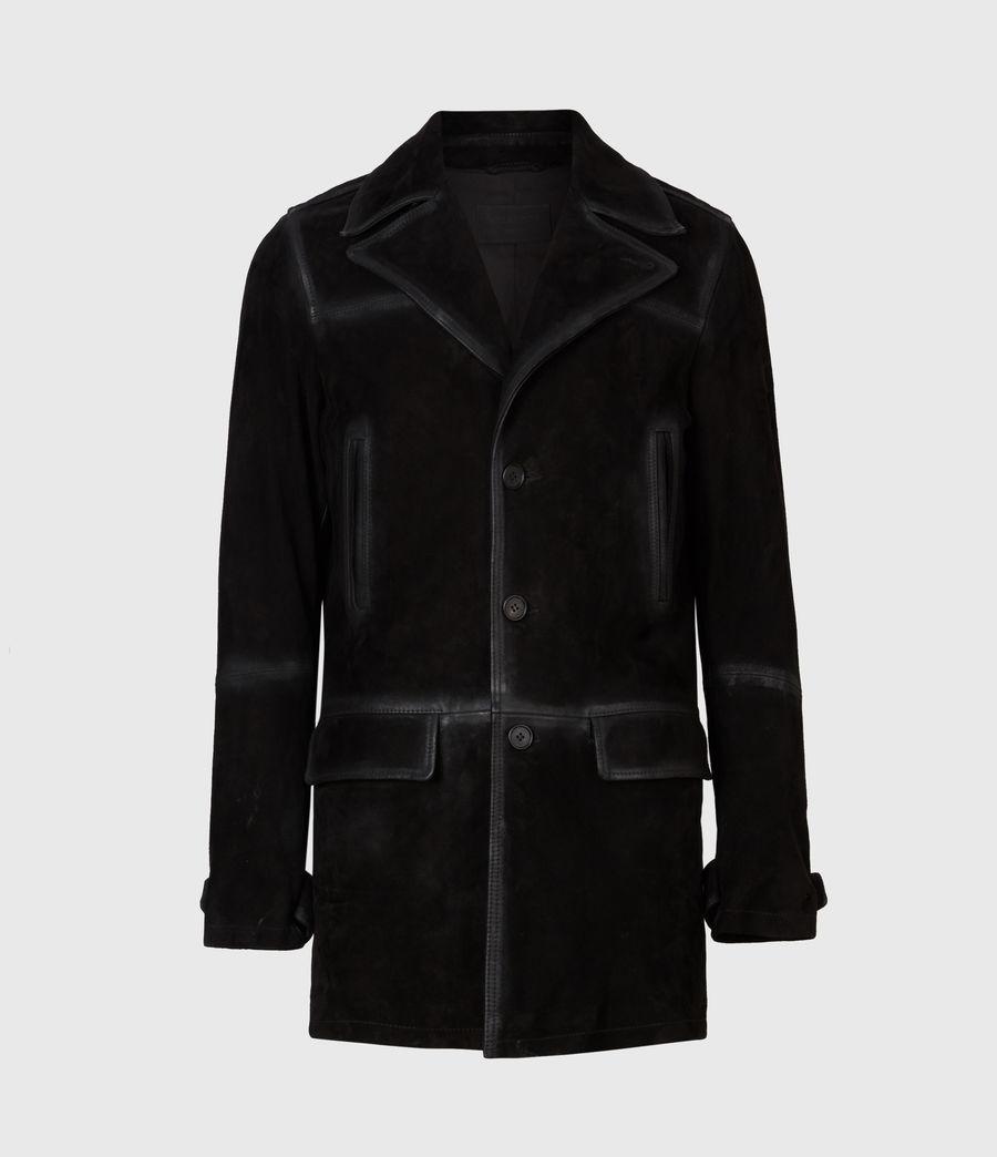 Men's Trebeck Suede Coat (black) - Image 2