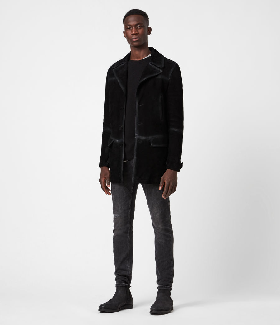 Men's Trebeck Suede Coat (black) - Image 4