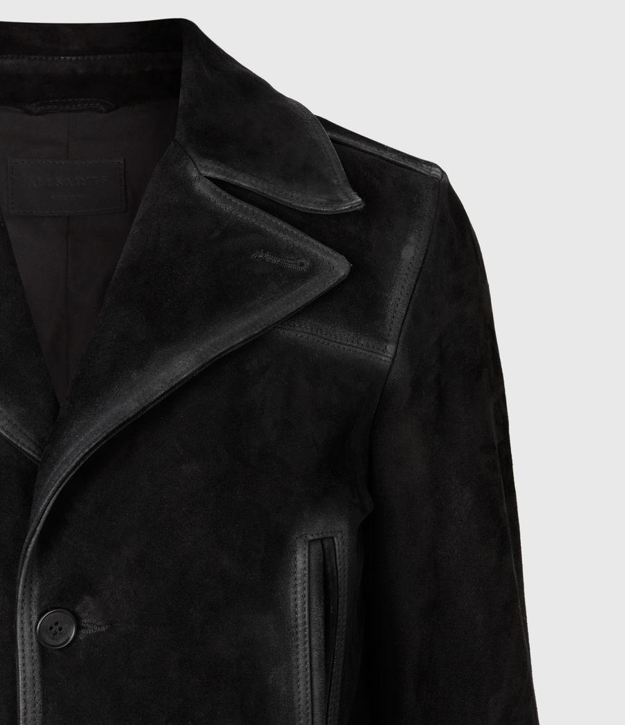 Men's Trebeck Suede Coat (black) - Image 5