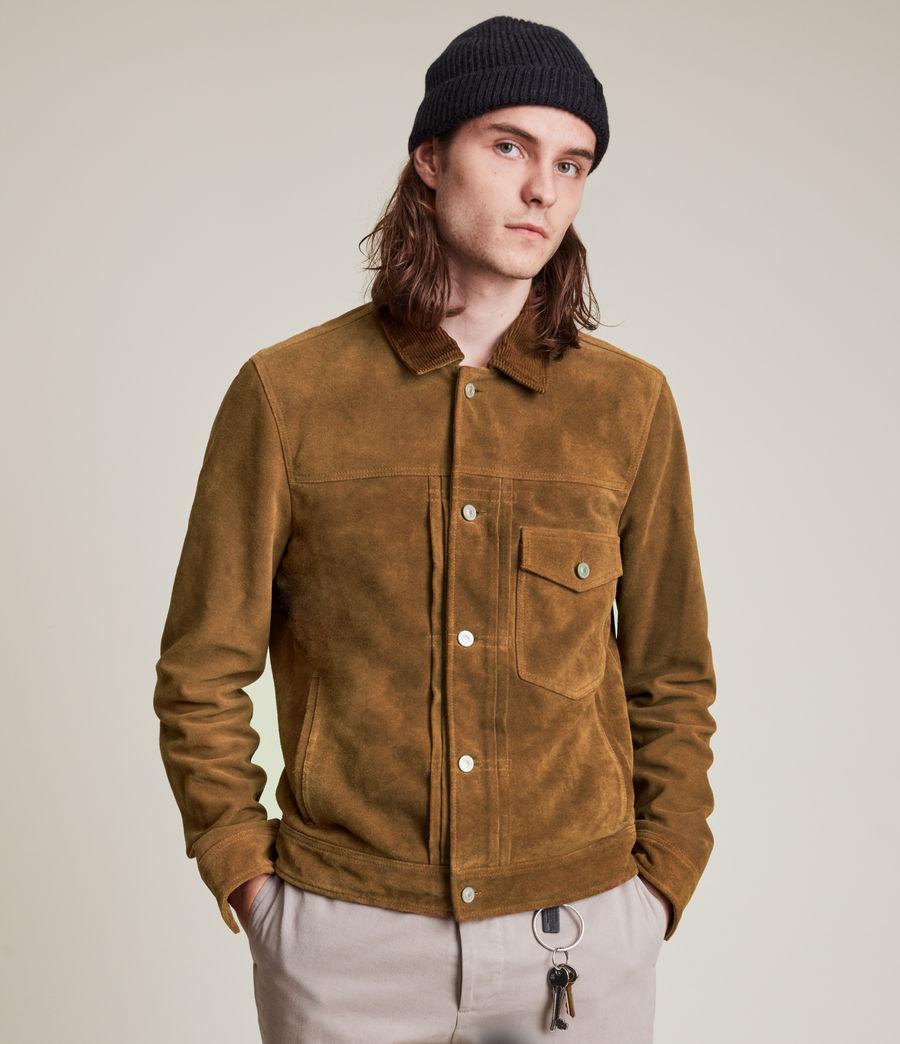 Mens Ashbrook Suede Jacket (camel) - Image 1