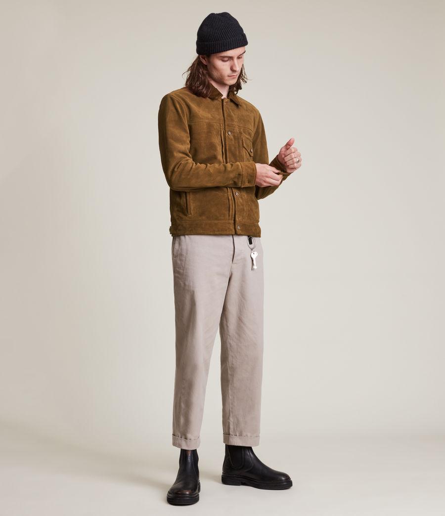 Mens Ashbrook Suede Jacket (camel) - Image 3
