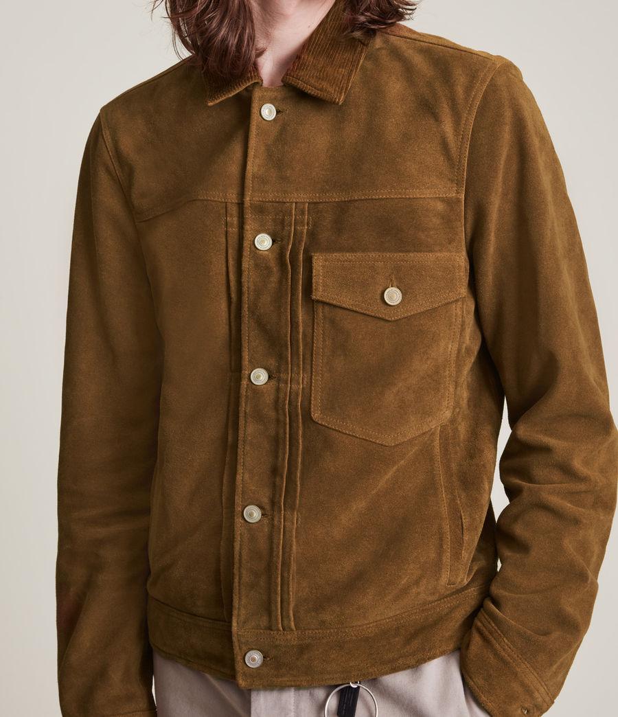 Mens Ashbrook Suede Jacket (camel) - Image 5