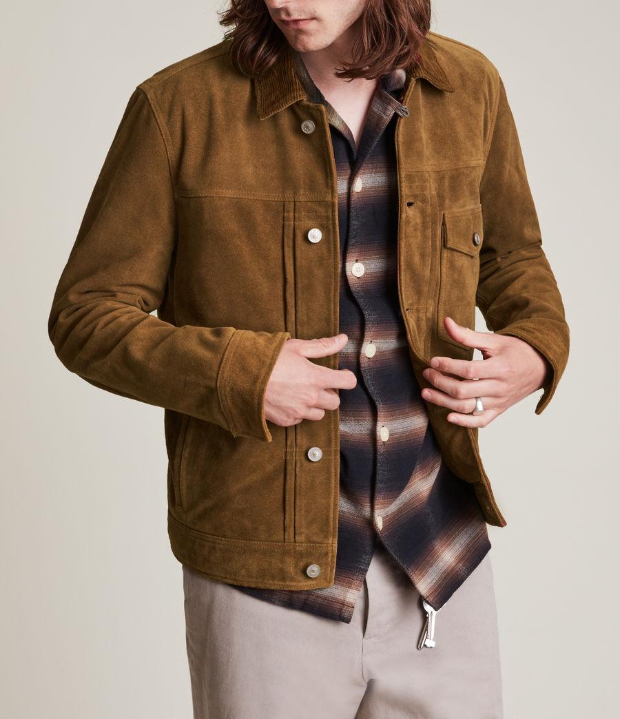 Mens Ashbrook Suede Jacket (camel) - Image 6