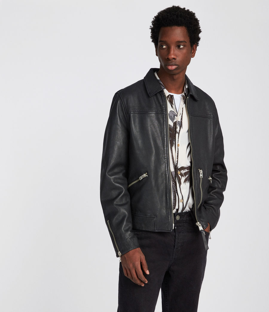 Men's Kopen Leather Jacket (black) - Image 1