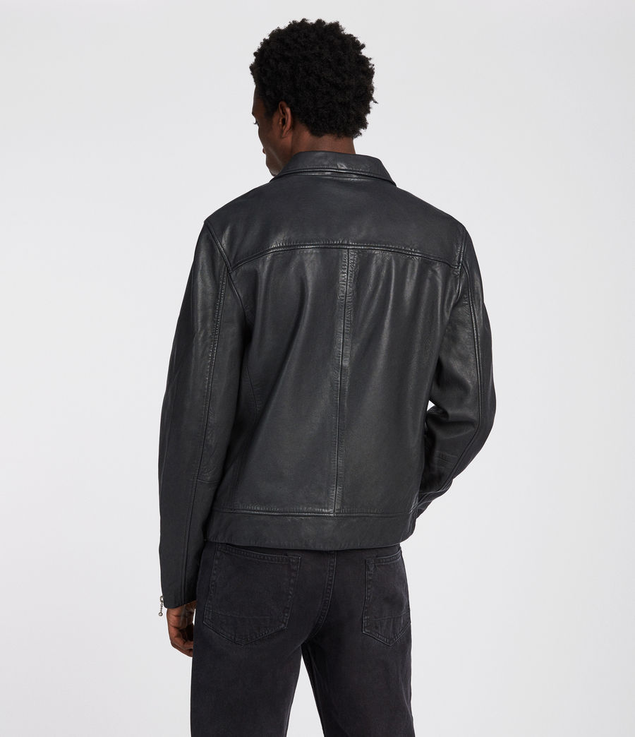 Men's Kopen Leather Jacket (black) - Image 5
